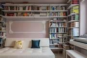 45㎡2室2廳學區房,客廳容納上千冊書,朋友進門就驚呆